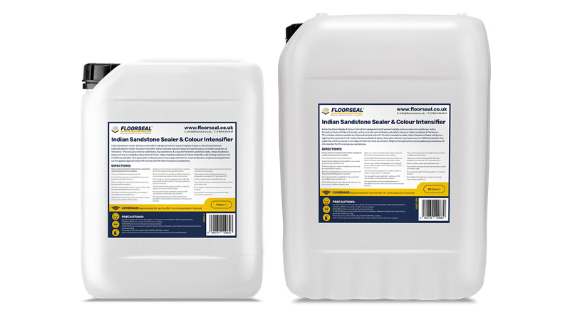 Indian Sandstone Sealer & Colour Intensifier is available in 5 & 20 litre sizes