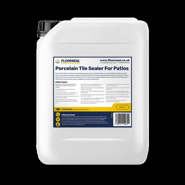 Floorseal Porcelain Tile Sealer for Patios. 5 Litre