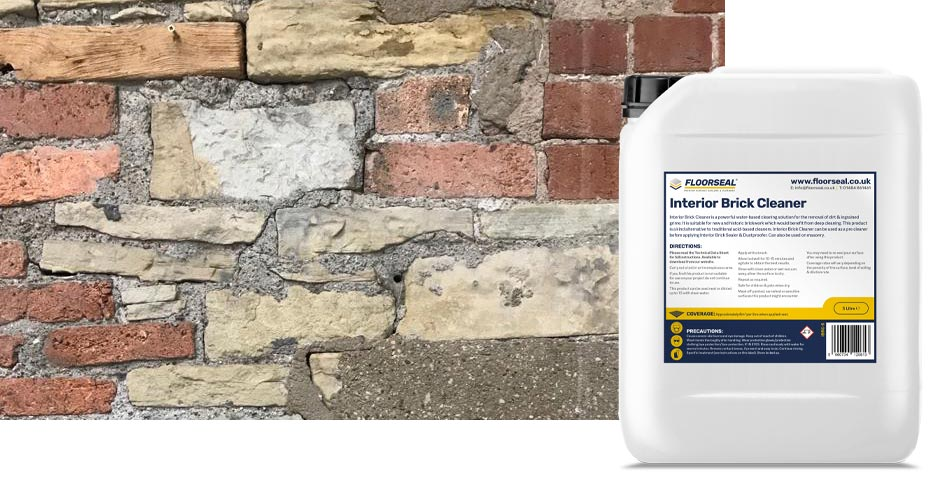 How to clean an exposed internal brick or masonry wall
