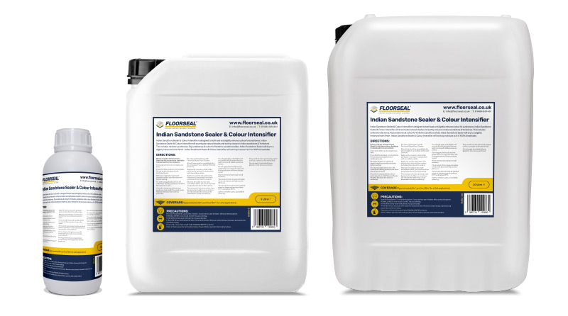 Indian Sandstone Sealer & Colour Intensifier is available in 1, 5 & 20 litre sizes