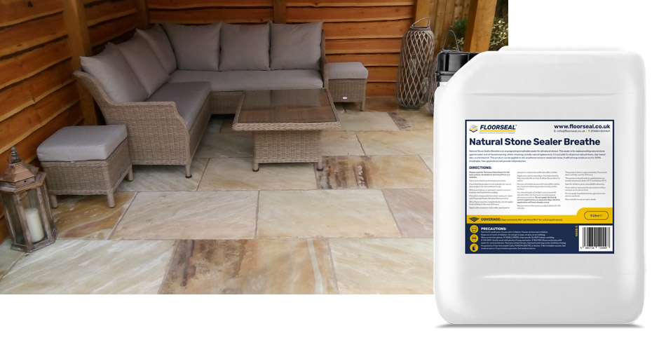 How to seal a natural stone patio