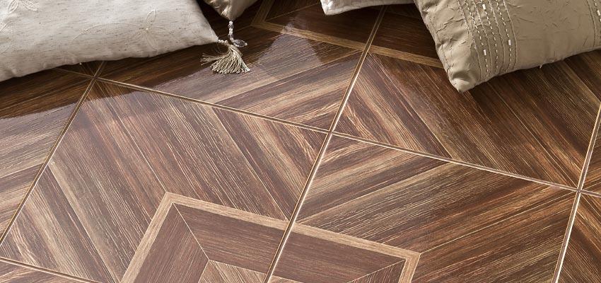 patterned brown porcelain floor tiles