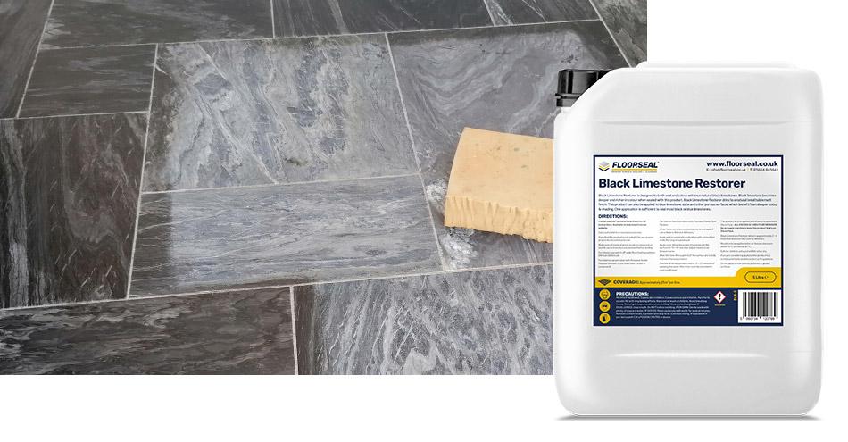 How to seal & colour enhance black limestone