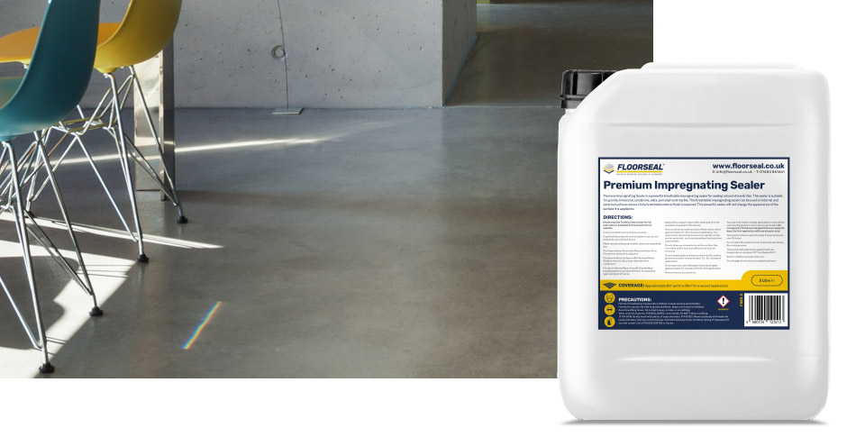 How to seal interior or exterior concrete with an impregnating sealer