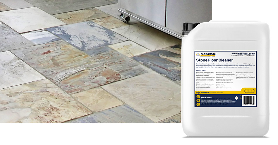 How to clean an interior natural stone floor